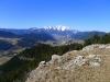 Aussicht von der Geländehütte.