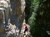 Viele Kletterer nutzen die feinen Wände.