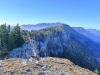 Blick vom Gipfel gen Westen.
