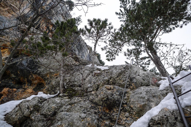 Klettersteig Hohe Wand : Hohe wand gutensteiner alpen