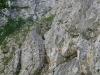 Einstiegswand mit Kletterer in der Leiter