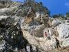 Nach der Durchstiegshöhle: die eindrucksvolle Wand am Zahmen Pechersteiglein.